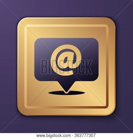 Purple Mail And E-mail Icon Isolated On Purple Background. Envelope Symbol E-mail. Email Message Sig