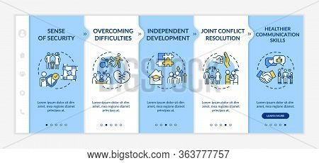 Parents And Children Relationship Onboarding Vector Template. Kids Care. Parenting Skills. Responsiv