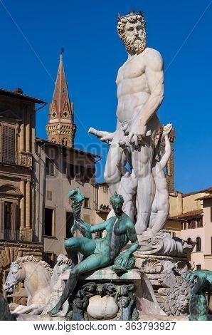 The Fountain Of Neptune By Bartolomeo Ammannati. Florence, Italy