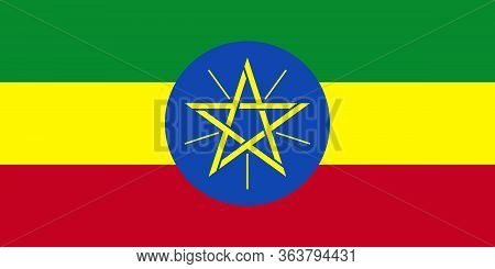 Ethiopia National Flag Graphics Design. Perfect For Business Concepts, Backdrop, Backgrounds, Sticke