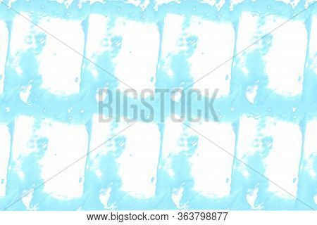 White Background With Abstract Cyan Pattern. Unusual Background, With Several Places For Text.