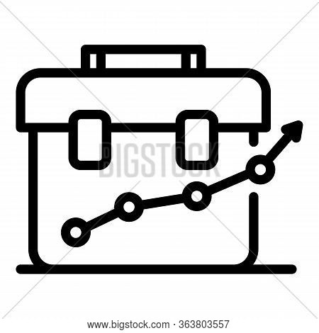 Methodology Leather Bag Icon. Outline Methodology Leather Bag Vector Icon For Web Design Isolated On