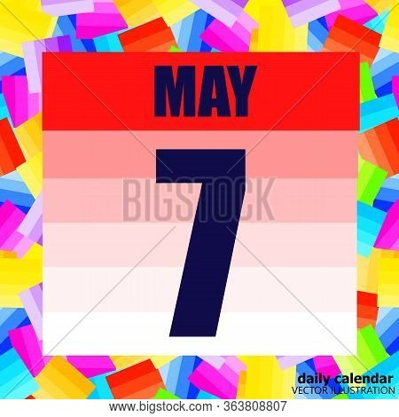 May 7 Icon. For Planning Important Day. Banner For Holidays And Special Days. Seventh May Vector Ill