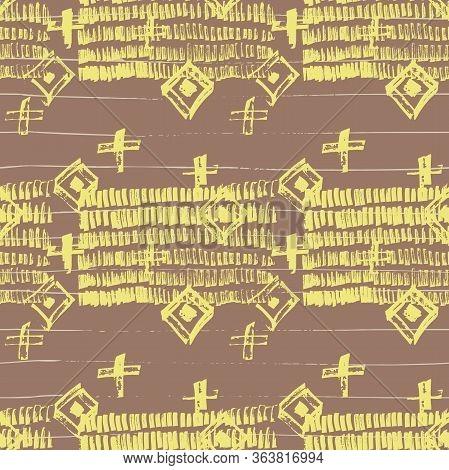 Tie Dye Japanese Geometric Simple Seamless Pattern. Scribble Cartoon Doodle Craft Texture. Boho Tie