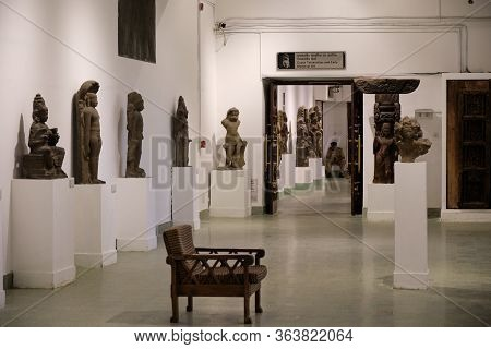 New Delhi / India - September 26, 2019: Ancient Sculptures In The National Museum Of India In New De