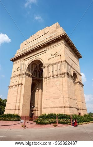 New Delhi / India - September 19, 2019: India Gate War Memorial In New Delhi, India, Dedicated To 70