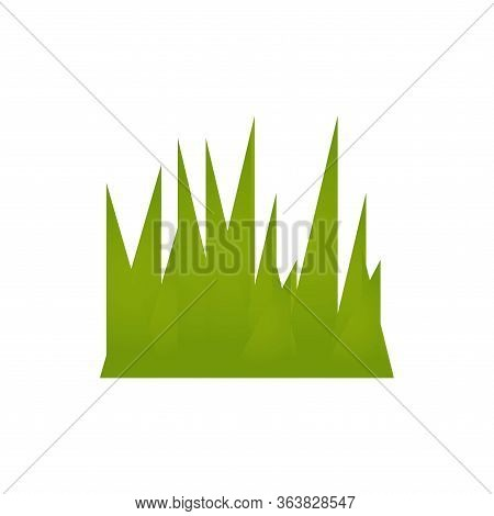 Grass On Onwhite Background, Design Element, Isolated Vector Illustration