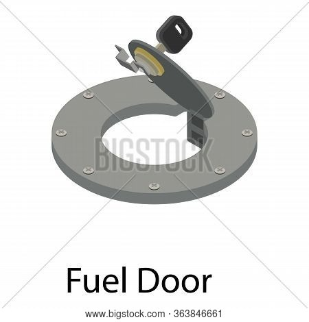 Fuel Door Icon. Isometric Of Fuel Door Vector Icon For Web Design Isolated On White Background