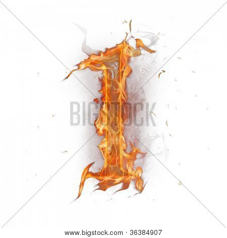 Fire alphabet number 1 poster
