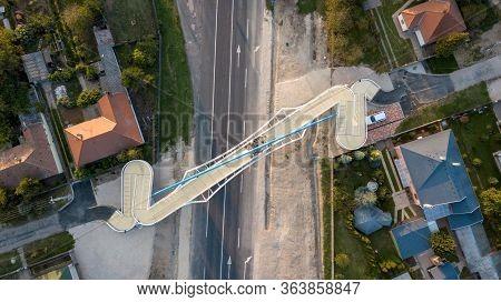Gyorszentivan 09 27 2019 The New Bridge Of Gyor-gyorszentivan Was Handed Over From Above.