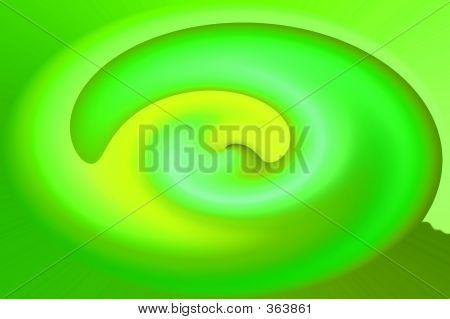 Green Twirl Abstract