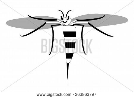 Wasp With A Stinger, Simple Style.outline Designer.