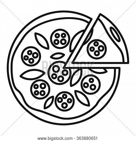 Margarita Pizza Icon. Outline Margarita Pizza Vector Icon For Web Design Isolated On White Backgroun