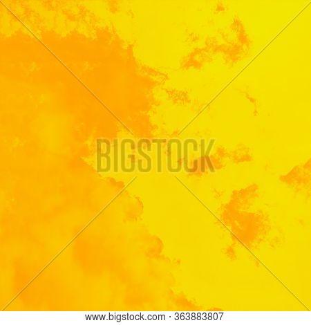 Beautiful Warm Sky Background, Yellow And Orange Toned