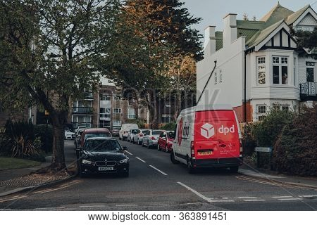 London, Uk - April 22, 2020: Dpd Delivery Van Parked On A Street In Palmers Green, North London, Uk.