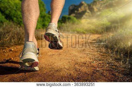 Running, Closeup Of The Runner's Feet