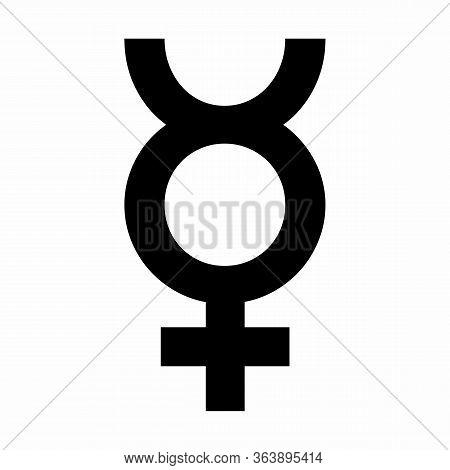 Mercury Astrology Sign Icon Illustration On White Background