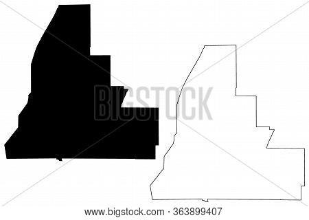 Walker County, Georgia (u.s. County, United States Of America, Usa, U.s., Us) Map Vector Illustratio