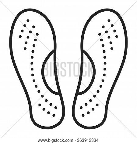 Orthopedic Insoles Black Line Icon. Orthotic Arch Support. Isolated Vector Element. Outline Pictogra