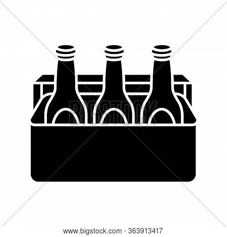 Beer Black Glyph Icon Vector Photo Free Trial Bigstock