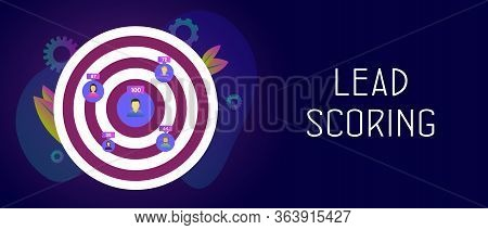 Lead Scoring - Ideal Customer Profile Business Concept. Predictive Sales, Marketing Strategy And Tar