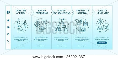 Successful Work Mindset Onboarding Vector Template. Brainstorming For Project. Variety Of Solutions.