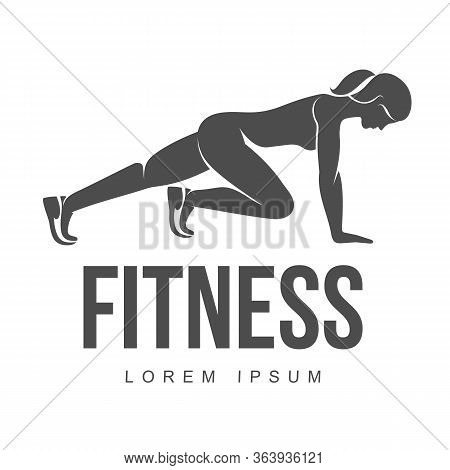 Workout Logo. Fitness, Aerobic And Workout Exercise In Gym. Vector Illustration Of Workout Logo Isol