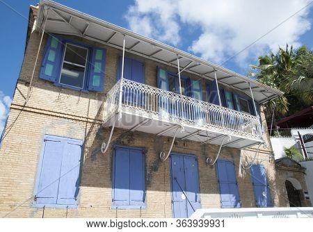 The House Built In 1854 In Charlotte Amalie Resort Town On St. Thomas Island (u.s. Virgin Islands).