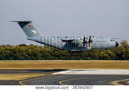Budapest / Hungary - October 7, 2018: Turkish Air Force Airbus Military A400m Atlas 15-0051 Military