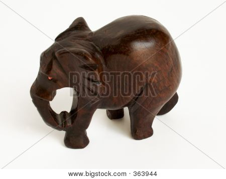 wooden elephant figure made by hand poster