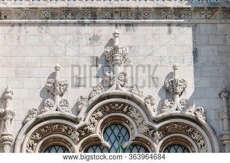 Architectural Detail Of The Jeronimos Monastery (mosteiro Dos Jeronimos) In Lisbon