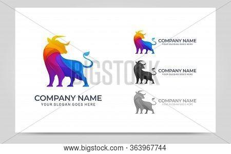 Modern Abstract Bull Logo Design. Vector Editable Logo