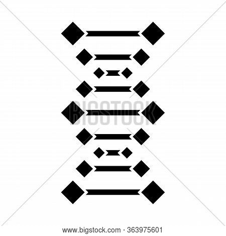 Dna Chains Glyph Icon. Deoxyribonucleic, Nucleic Acid Helix. Chromosome. Molecular Biology. Genetic