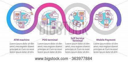 Payment Vector Infographic Template. Business Presentation Design Elements. Pos Terminal. Data Visua