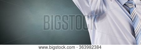 Armpit Sweat Stain From Sweating And Hyperhidrosis. Deodorant Stains