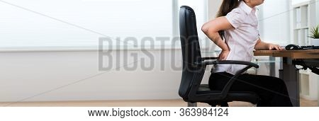 Back Pain Bad Posture Sitting In Office