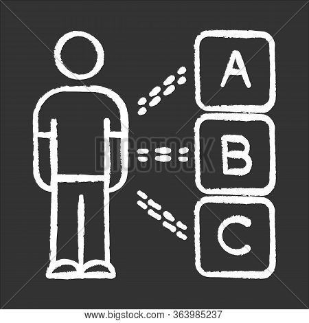 Personal Survey Chalk Icon. Multiple Choices. Select Option. Question And Answer. Psychological Test