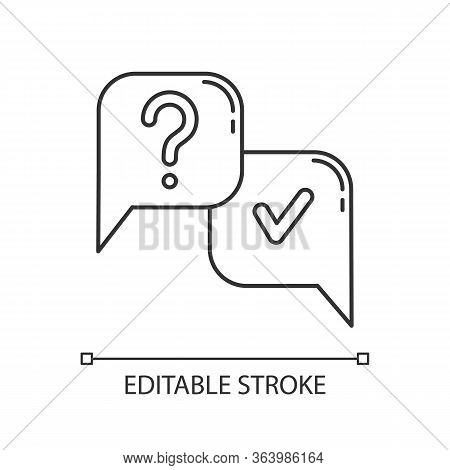 Question And Answer Linear Icon. Faq Sign. Ask And Answer. Chat, Dialogue. Discussion And Conversati