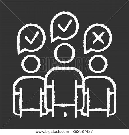 Community Survey Chalk Icon. Group Administered Questionnaire. Opinion Polling. Social Research. Fee