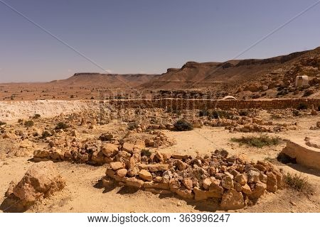 Mosquee Des 7 Dormants Chenini Is A Ruined Berber Village In The Tataouine District In Southern Tuni
