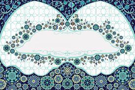 Arabic Floral Arch. Traditional Islamic Ornament. Mosque Decoration Design  Element. Design Template