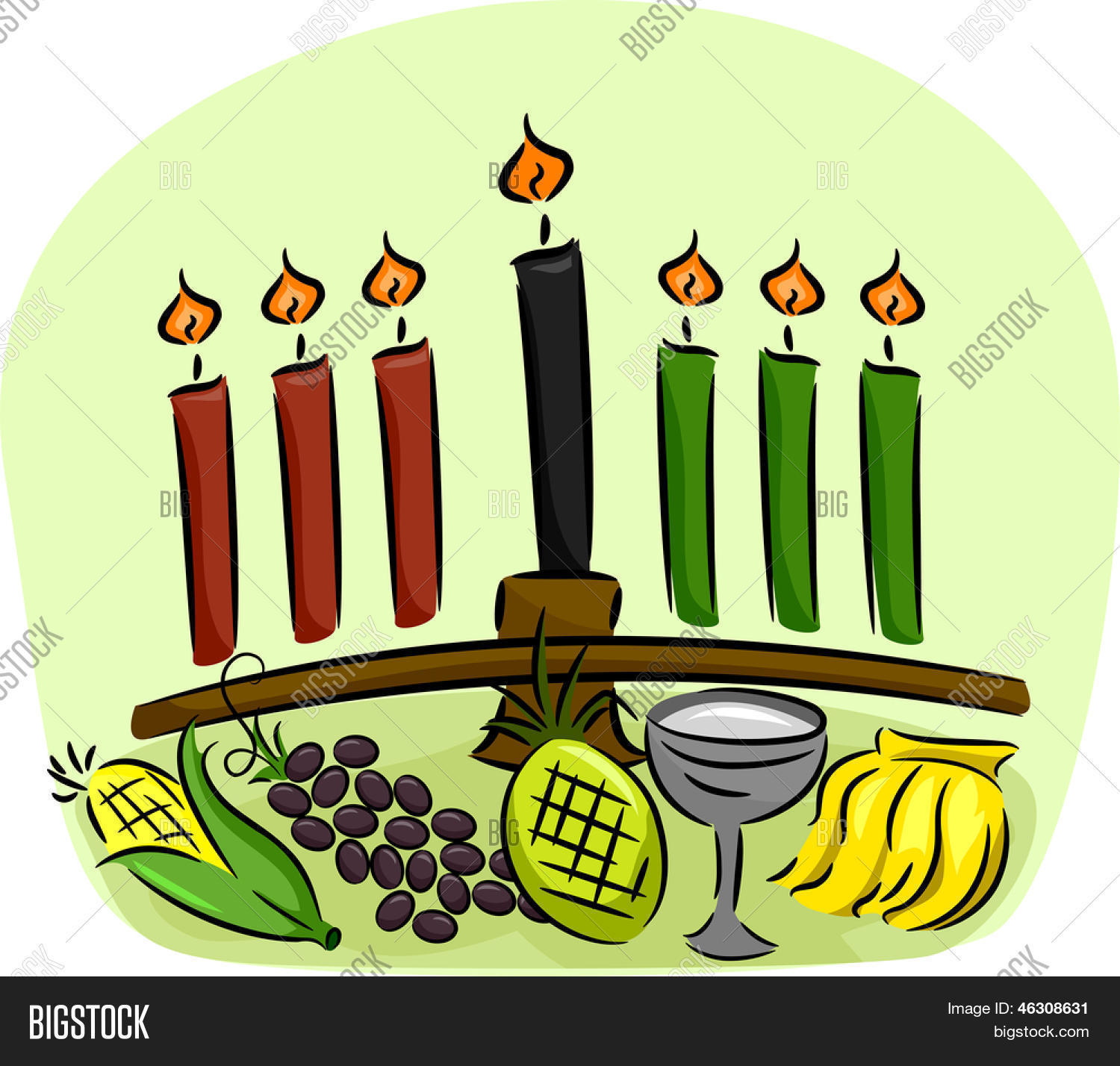 illustration kwanzaa symbols vector photo bigstock rh bigstockphoto com kwanzaa kinara clipart kwanzaa clipart black and white
