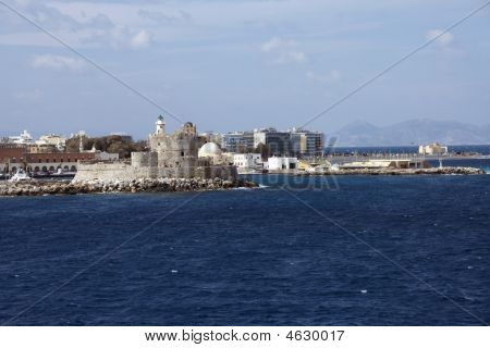 Rhodes View From Ship
