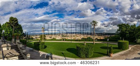View from Villa Miani, Rome, Italy