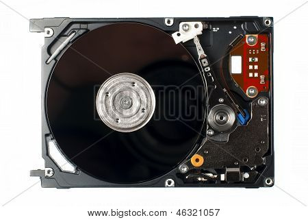 Opened Hard Disk close up