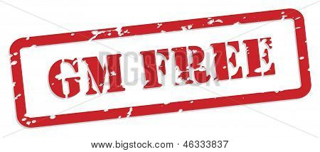 Gm Free Rubber Stamp