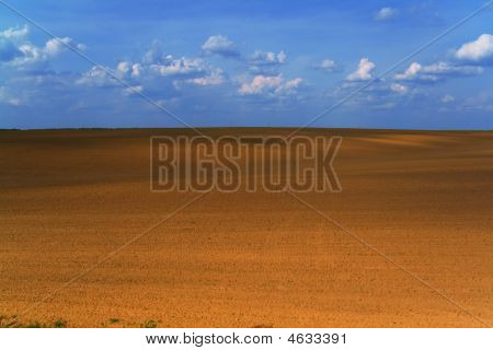 Ploughed Field Background