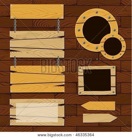 Tafeln und Holzrahmen