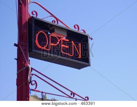 Fancy Open Sign