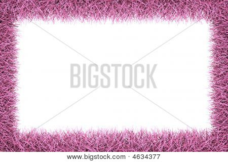 Pink Fur Frame With Clipping Path